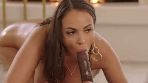 Porn video A brunette with big tits satisfies a black guy. Sofi Ryan