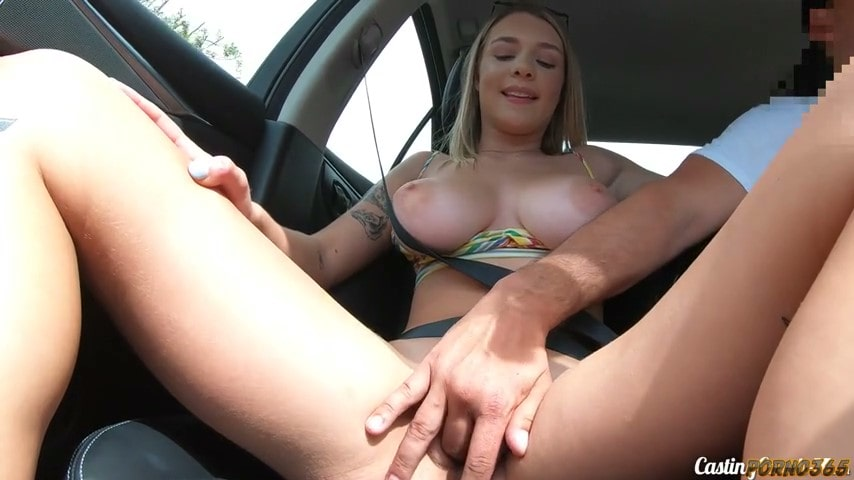 Porn video A girl with big boobs is looking for work and finds it at an erotic casting. Gabbie Carter