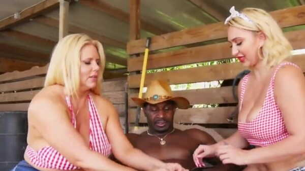 Porn video Black man fucks blondes on the farm.