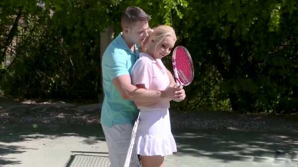 Porn video Blonde Aaliyah Love fucks with a tennis instructor. Aaliyah Love