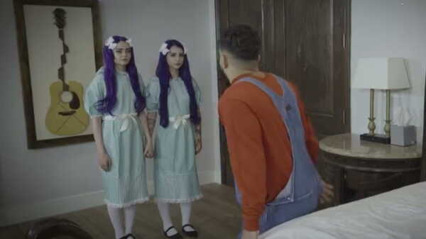 Sex video Girls with purple hair fuck a guy.