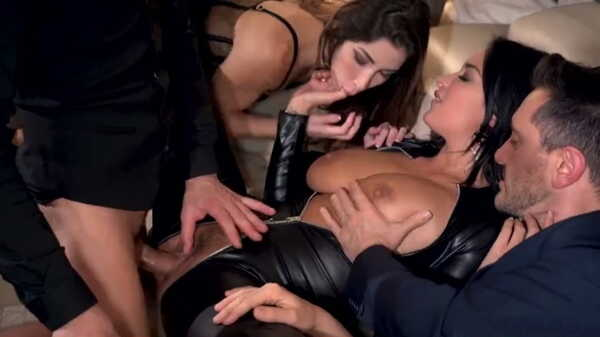Group sex with Clea Gaultier and Anissa Kate.