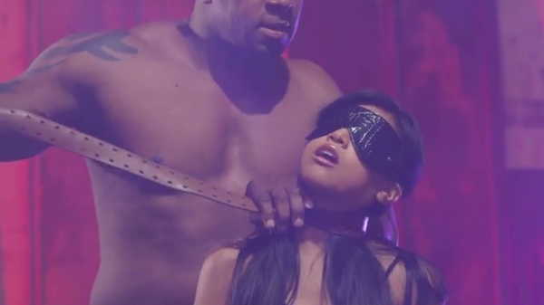Porn video He blindfolded her and tightened the belt around her neck. Ember Snow