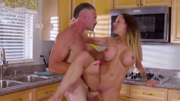 Porn video Hot milf and sex in the kitchen. Mckenzie Lee