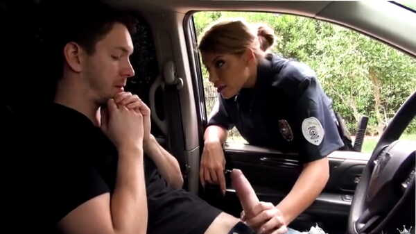 Porn video I fucked a female officer on the hood of a police car. Mercedes Carrera
