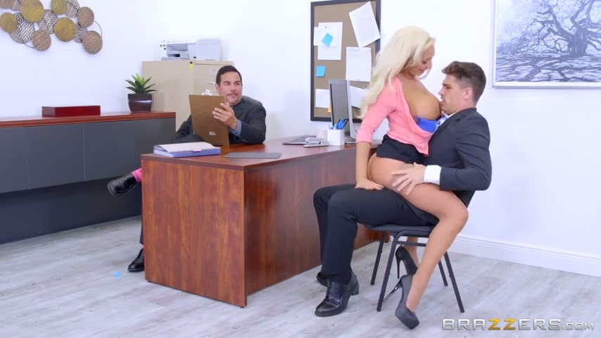 Interviewing sex with hot secretary Olivia Fox.