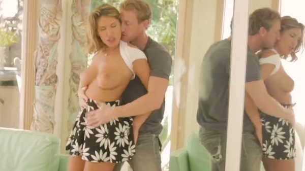 Porn video Passionate sex in the living room. August Ames