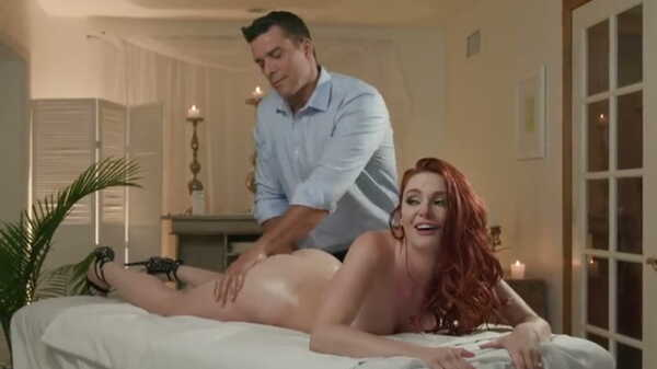 Porn video Red-haired beauty has sex on the massage table. Lacy Lennon