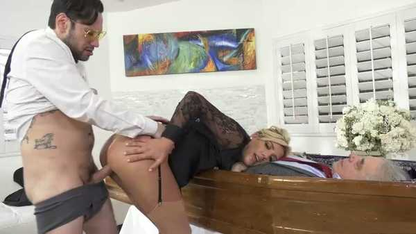 Sex at a funeral.