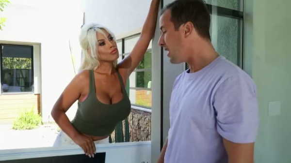 Sexy blonde has sex with a married man.