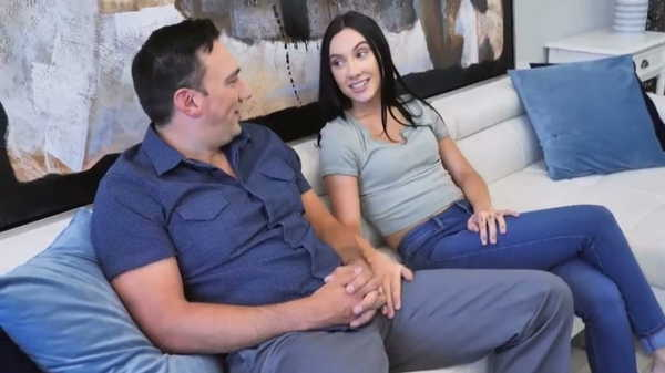 Porn video The adopted daughter pleases her adoptive parents. Jasmin Luv