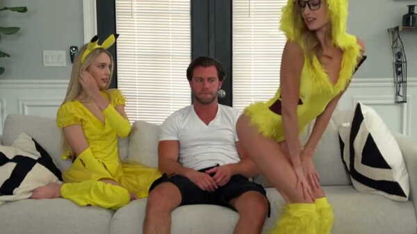 Porn video The blonde and her friend seduced the stepbrother. Kyler Quinn, Lily Larimar