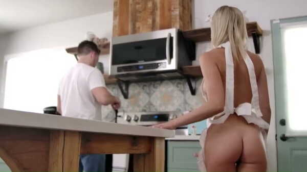 Porn video The blonde seduced her stepbrother in the kitchen. Kiara Cole