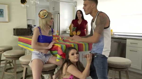Porn video The Mexican party ended with group sex. Athena Faris, Kira Noir