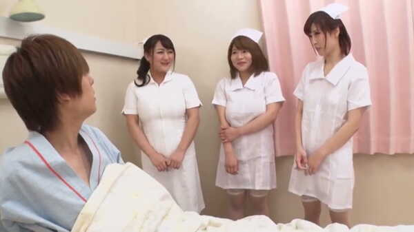 Porn video Three Asian nurses please a patient.